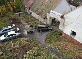 Dron nad Šternberským dvorem